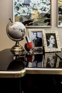 Globe on a desk...