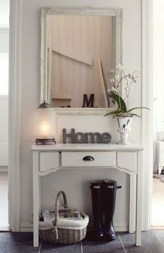 I like this for a small entryway but in black