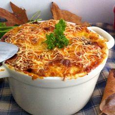 Gratin automnal en cocotte (potimarron, champignons, pommes de terre, roquefort)