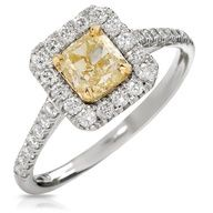 Yellow #Diamond and Gold ring  #rings