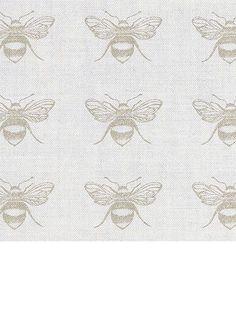 Queen bee fabric - peony & sage