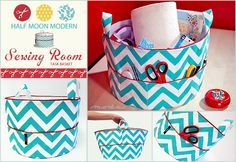 tutorial fabric basket pockets - Google Search