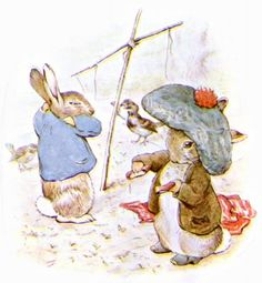 by Beatrix Potter. Peter Rabbit & Benjamin Bunny wearing the tam-o-shanter. Betty Boop, Tales Of Beatrix Potter, Beatrix Potter Illustrations, Alfabeto Animal, Beatrice Potter, Peter Rabbit And Friends, Benjamin Bunny, Winnie, Children's Book Illustration