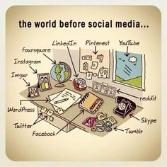 ツ  The world before social media!   ツ