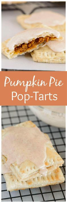 Enjoy a homemade pop-tart that taste just like pumpkin pie. These pumpkin pie pop-tarts are made completely from scratch and taste so good!