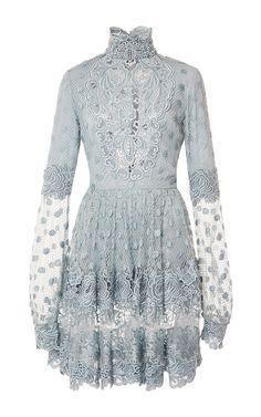 Lace Mini Dress by ELIE SAAB for Preorder on Moda Operandi