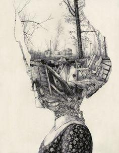 Broken thoughts illustration