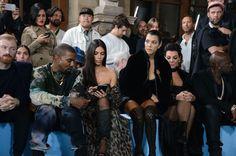 Kim, Kanye, Kourtney, Kris & Corey at the Off-White show in Paris, France - September 29, 2016