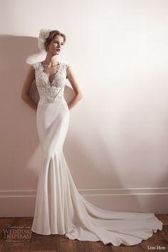 lihi hod bridal spring 2013 cap sleeve sheath #wedding dress #weddings #weddingdress