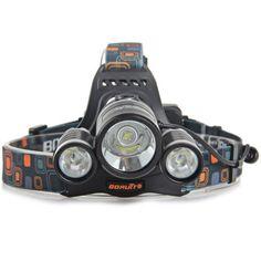 Boruit RJ  -  5001 5000Lm 3 CREE XM  -  L2 LEDs Water Resistant Headlamp ( 4 Modes ) #CLICK! #clothing, #shoes, #jewelry, #women, #men, #hats, #watches