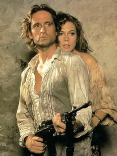 """Michael Douglas and Kathleen Turner in """"Romancing the Stone"""""""