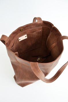 5e01b4426e7 Classic Leather Tote Bag In Dark Brown Soft Antiqued Leather Cowhide Purse  Leather Shoulder Bag Leather Work Tote Handmade Leather Handbag