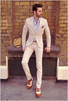 wedding inspiration | groom outfit | attire for the groom | summer wedding | cream suit |