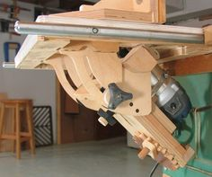 Many of you may not care what this is... but if you're curious, it's an example of some the finest woodshop engineering you'll ever find. Regardless of the application, the execution is awe-inspiring.