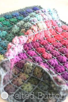 (4) Name: 'Crocheting : Painted Pixels Blanket