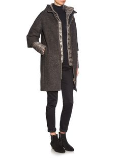 Wool and mohair-blend quilted-down coat | Herno | MATCHESFASHION.COM US