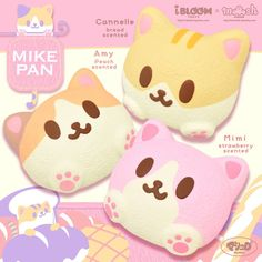 Ten Great Cat Breeds for Kids – Pawsitively Pawesome Cats Ibloom Squishies, Cute Squishies, Cute Food, Pink Aesthetic, Sanrio, Wall Collage, Just In Case, Cute Pictures, Plushies