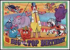 McDonalds Trayliner Placemat - Big Top Birthday - 1988 by JasonLiebig, via Flickr