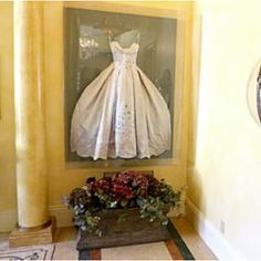 Frame your wedding dress in your walk in closet!