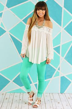 Summer Showers Top: White #shophopes