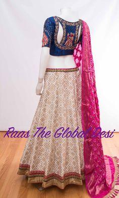 Choli Blouse Design, Sari Blouse Designs, Fancy Blouse Designs, Lehenga Designs, Blouse Patterns, Indian Fashion Dresses, India Fashion, Women's Fashion, Ethnic Outfits