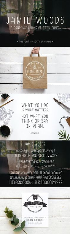 Condensed font - Jamie Woods by Skyla Design on @creativemarket