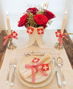 Festliche 1.August Tisch-Dekoration » Ich liebe mein Zuhause - Landhausstil zum Wohlfühlen und Geniessen
