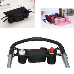 Universal Baby Stroller Bag Organizer Children Carriage Pram Cup Holder Baby Stroller Accessories Strollers bags #Affiliate