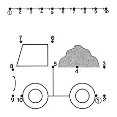 truck by Kids Under Tracing Worksheets for Kids. Free dot to dot worksheets for kids. Dot To Dot Printables, Preschool Printables, Kindergarten Worksheets, Kindergarten Counting, Free Printables, Tracing Worksheets, Worksheets For Kids, Matching Worksheets, Printable Worksheets