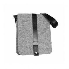 TORBA Z FILCU BOY 01 czarny zamek #puroldesign #malebag #bag #felt #gray #shoulderbag