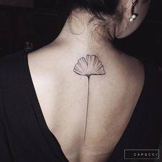 ElegantGinkgo Leaf Tattoo by mcapocci