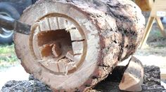 The Art of Log Hive Making