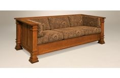 This beautiful couch is as sturdy as it looks! Handcrafted by Amish craftsmen, this couch can be customized with finish and fabric to match any home decor.