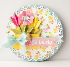 So Lovely Paper Flower Card | 25+ Paper Flower Crafts