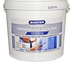 Farba Termoizolacyjna BAUTER Do Wnętrz | Przeciw Grzybowi | Odporna Na Szorowanie | 5 litrów Q-THERM | Termoizolacja Od Wewnątrz | Chłodny Dach