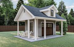 This alluring Small House Plan with Cottage aspects (House Plan #100-1360) has a 0-car garage and 168 living sq ft. The 1-story floor plan includes 0 bedrooms. #smallhouseplans #houseplans #shedplan Shed Office, Backyard Office, Backyard Sheds, Backyard Buildings, Shed Building Plans, Diy Shed Plans, Small Shed Plans, Small Sheds, Garage Plans