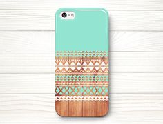 iPhone 5 Case, iPhone 5 Cases, iPhone 5 Wrap Around Case - Aztec  Wood - 197