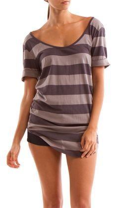 Stripe Scoop Neck Tee - love for summer!