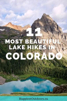 The 11 Most Beautiful Lake Hikes in Colorado. Get info and directions for the best hikes to lakes in Colorado. Includes hikes in Rocky Mountain National Park, hikes in Aspen and more. Vail Colorado, Denver Colorado, Colorado Springs, Colorado Lakes, Colorado Hiking, Emerald Lake Colorado, Dream Lake Colorado, Estes Park Colorado, Fort Collins