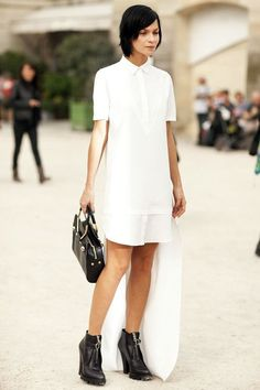 An Edgy Take On The Structured White Shirtdress