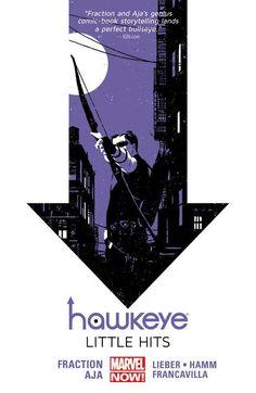 Hawkeye vol. 2: Little Hits by Matt Fraction, art by David Aja, Francesco Francavilla, Steve Lieber, and Jesse Hamm
