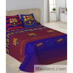 """Colchas bouti FC Barcelona Escudo., Colchas FCB estampadas con el escudo y la estrofa del himno del equipo """"TOTS UNITS FEM FORÇA"""""""