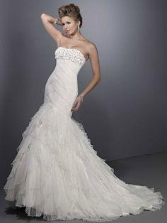 Trumpet / mermaid net sleeveless bridal gown,allure wedding dresses,allure wedding dresses,allure wedding dresses