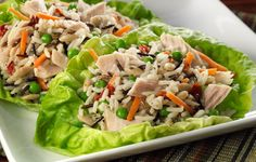 UNCLE BEN'S® Albacore Tuna and rice lettuce cup - Easy Rice Recipes - Delicious Rice Dishes and Meals. Easy Rice Recipes, Healthy Dinner Recipes, Healthy Snacks, Pinwheel Recipes, Bean Recipes, Free Recipes, Healthy Cooking, Healthy Eating, Cooking Recipes