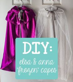 """You Are My Licorice: DIY : Elsa & Anna Costume Capes from Frozen"" - I want an Anna cape so bad! Elsa Frozen, Frozen Cape, Frozen Kids, Frozen Birthday Party, Frozen Party, Frozen Wedding, Sewing For Kids, Diy For Kids, Anna Cape"