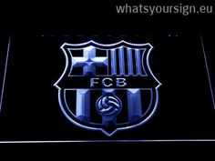 FC Barcelona Crest - LED neon sign light display made of the premium quality transparent plastic and briliant colorful lighting. The neon sign displays exactly the same from every angle thanks to the carving with the latest 3D laser engraving process. This LED neon sign is a great gift idea! The neon is provided with a metal chain for displaying. Available in 3 sizes in following colours: Red, Yellow, Blue, White, Purple, Orange and Green!