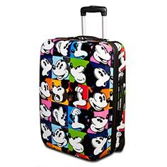 Disney Rolling Pop Art Mickey Mouse Luggage -- 24'' | Disney StoreRolling Pop Art Mickey Mouse Luggage -- 24'' - Enjoy picture perfect trips with this Rolling Pop Art Mickey Mouse Luggage. This handy rolling suitcase features bold pop art-style images of an expressive Mickey and includes travel-friendly features like a hard-sided body and telescopic handle.