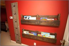 Rustic Book Shelf made from Reclaimed Wood by KristiesreCREATIONS, $40.00
