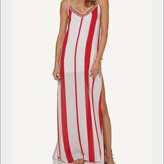 Vix maxi dress Gorgeous gauzy maxi dress by Vix swimwear- colors are true  to photos. Gold beading embellishes the neckline. Ordered one size too  small. d304784c726