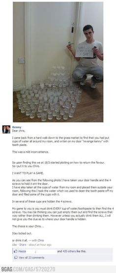 Awesome. He just earned my respect.